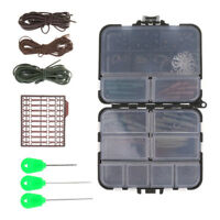 Carp Fishing Weights Tackle Box Safety Cips Tubes Swivels Kits for Hair Rigs