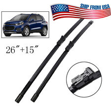 XUKEY Windshield Flat Wiper Blades Front Window Set For Chevrolet Trax 2012-2019