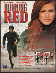 RUNNING RED__Original 1999 Trade Print AD / ADVERT__Angie Everhart_Jeff Speakman