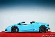 MR Models 1:18 Baby Blue Lamborghini Huracan LP610-4 Spyder with Showcase