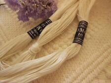ancienne echevette de fil de lin DMC n°16 pour dentelle blanc