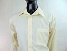 Joseph & Feiss Dress Shirt Non Iron Slim Fit Size 17 36/37 Tall Ivory White L/S
