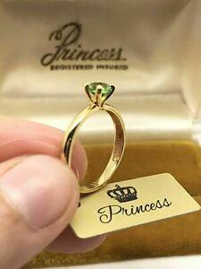 PRINCESS 0.25CT DIAMOND CUT RUSSIAN  ALEXANDRITE 100% COLOR CHANGE SIZE 7