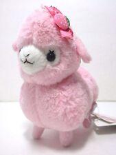 Lovely Girl Kids Alpacasso Pink Alpaca Strawberry Hair Bow 12cm Plush Amuse Cute