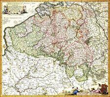 Reproduction carte ancienne - Belgique (België) 1684