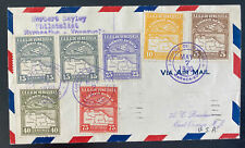 1930 Maracaibo Venezuela First Flight Airmail cover Ffc to Cristobal Canal Zone