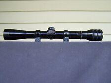 "USA Redfield Rimfire 4x Rifle Scope 3/4"" Tube Nice W/Rings"
