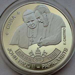 5 Kwacha Malawi 2009, John Paul II & Fidel Castro - Papal visits 1998
