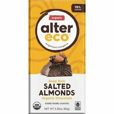 24 Pack of Alter Eco - Organic Dark Chocolate 70% Cocoa Salted Almonds 2.82 oz