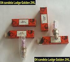 04 candele Lodge Golden 2HL originali d'epoca Sparks plugs Zündkerzen Alfa Romeo