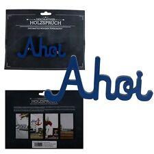 """Holzschrift 3D""""Ahoi""""14cm Holzbuchstaben Schriftzug Buchstaben Schild Holzschrift"""