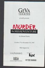 Murder by Misadventure 1995 Geva Theatre Program Bruce Gooch