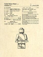 Official Lego Figurine US Patent Art Print - Original Toy Artwork - 47