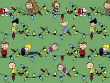 PEANUTS FABRIC SNOOPY CHARLIE BROWN LUCY WOODSTOCK CHRISTMAS LIGHTS  BY THE YARD