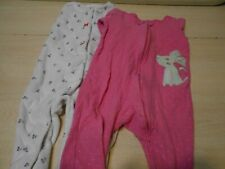 SIZE 9 Month Girls SET OF 2 Warm Baby Sleepers Long Sleeve PJs W/Footies