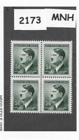 #2173  MNH block / Adolph Hitler / 50 Hal / 1942 German Occupation / Third Reich