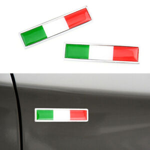 2* Italy Italian Flag Logo Emblem Badge Car Sticker Decorative Decor Accessories