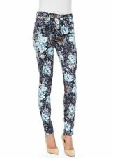 NWT Womens 7 FOR ALL MANKIND Dutchess Garden Navy Floral Skinny Jeans Size 28 A5