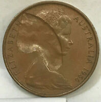 "AUSTRALIA 1966 TWO 2 CENTS "" RARE COLLAPSING ERROR PLANCHET FLAW, JUS AMAZING """