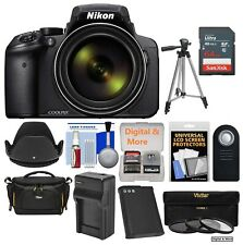 *USA SELLER!* Nikon Coolpix P900 Wi-Fi 83x Zoom Digital w/ 64GB 3 Filters Bundle