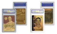 Set of 2 PEYTON MANNING Colts Gold Cards FEEL the GAME & LASER LINE GEM-MINT 10