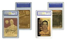 Set of 2 PEYTON MANNING Colts Gold Cards FEEL the GAME & LASER LINE GEM-MINT 10