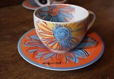 Rosenthal DAISIES - Cup & Saucer - Andy Warhol - Continental - demo -