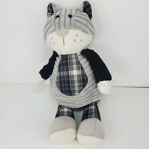Jellycat Kitty Cat Cordy Roy Gray and Black Plaid Plush Stuffed Toy
