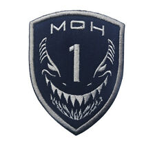 MEDAL OF HONOR TIER1 NAVY TIGER SHARKS AOR1 BLUE SILVER SWAT PATCH HOOK BADGE