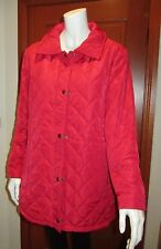 EQUUS BREAKAWAY QUILTED JACKET Size 12 red colour new with tag fleece lining