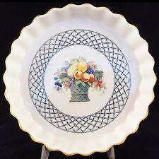 "BASKET Villeroy & Boch QUICHE / FLAN DISH 8.25"" diameter NEW NEVER USED Portugal"