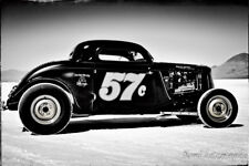 12x18 in Poster, Black and White Hot Rod 1934 Ford Vintage Garage Art Man Cave