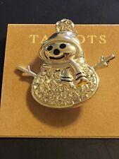 New Talbots Snowman Pin