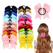 10pcs Baby Girl's Hair Band Rope Bow Grosgrain Ribbon Elastic Ponytail Headband