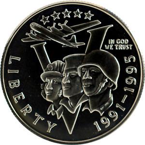 US 50c Half Dollar Commemorative 1991-1995-P World War 2 WWII Proof Mint Capsule
