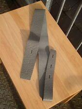 vintage Terry Gould-Windsor 100% leather guitar strap, grey
