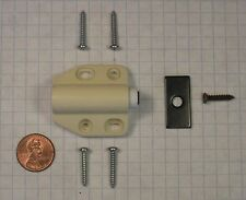 FUTABA #D-7-IVORY MAGNETIC PUSH LATCH, PLASTIC, 15mm THROW, FOR WOOD DOORS