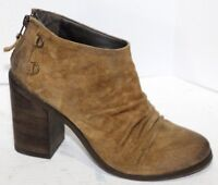 Boutique 9 Brown Distressed Leather Suede Ankle Boots Sz 7.5 PERFECT