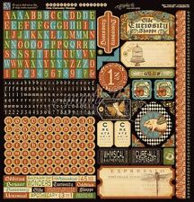 "GRAPHIC 45 ""OLDE CURIOSITY SHOPPE"" 12X12 STICKER SHEET  SCRAPJACK'S PLACE"