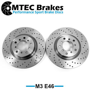 BMW M3 E46 01-07 Drilled Only Performance Front Brake Discs 325mm