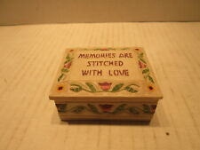 Small Trinket Box Memories Are Stitched With Love Soap Stone Like Sewing Pin