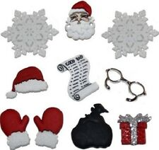 Jesse James Buttons Dress It Up ~ Waiting For Santa 1426 ~ Santa Hat ~ Christmas