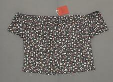 67a1823a6317c9 Mossimo Women s off The Shoulder Short Sleeve Bardot Top Black Floral Large