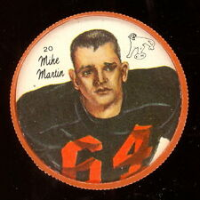 1964 CFL NALLEY'S POTATO FOOTBALL COIN #20 MIKE MARTIN NM B C LIONS WASHINGTON