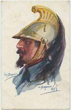 Argonne 1915 Cavalry Soldier Portrait Emile Dupuis France WW1 Postcard (568)