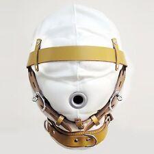 Fetish Bondage Gimp Hood Sensory Deprivation Hood Mask Faux Leather zb004