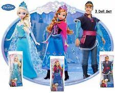 Disney Frozen SPARKLE Elsa Anna ➕ Kristoff 3 Doll Classic Bundle Set Original 12