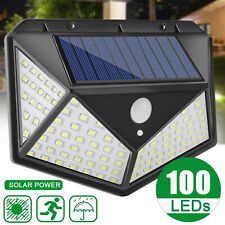 100 LED Solar Wall Light Motion Sensor Outdoor Waterproof Garden Yard Patio Lamp