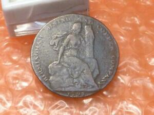 1792 Birmingham Mining Co.Colonial Halfpenny Trade Token Lettered Edge #AZ