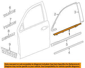 GM OEM-Door Window Sweep-Belt Molding Weatherstrip Left 84291967